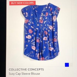 Stitch Fix- Collective Concepts Cap Sleeve Blouse
